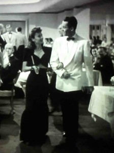 At dinner with Henry Fonda in the Lady Eve