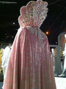 """The jewel-encrusted shell collar of Liberace's """"Neptune"""" cape (photo by Brianne Gillen)"""