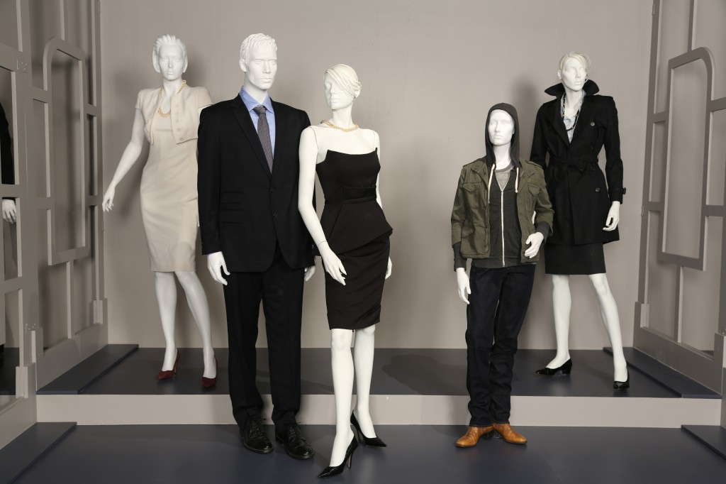 Costumes from House of Cards, including Kevin Spacey's custom-tailored shirt & Robin Wright's cocktail dress (photo by Brandon Clark/ABImages, courtesy of FIDM Museum)