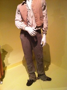 Detail of the distressing on Chiwetel Ejiofor's pants for 12 Years a Slave (photo by Brianne Gillen)