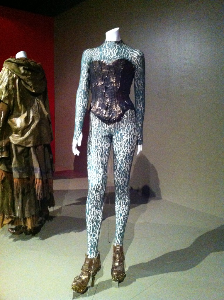 The textured bodysuit from The Hunger Games: Catching Fire (photo by Brianne Gillen)