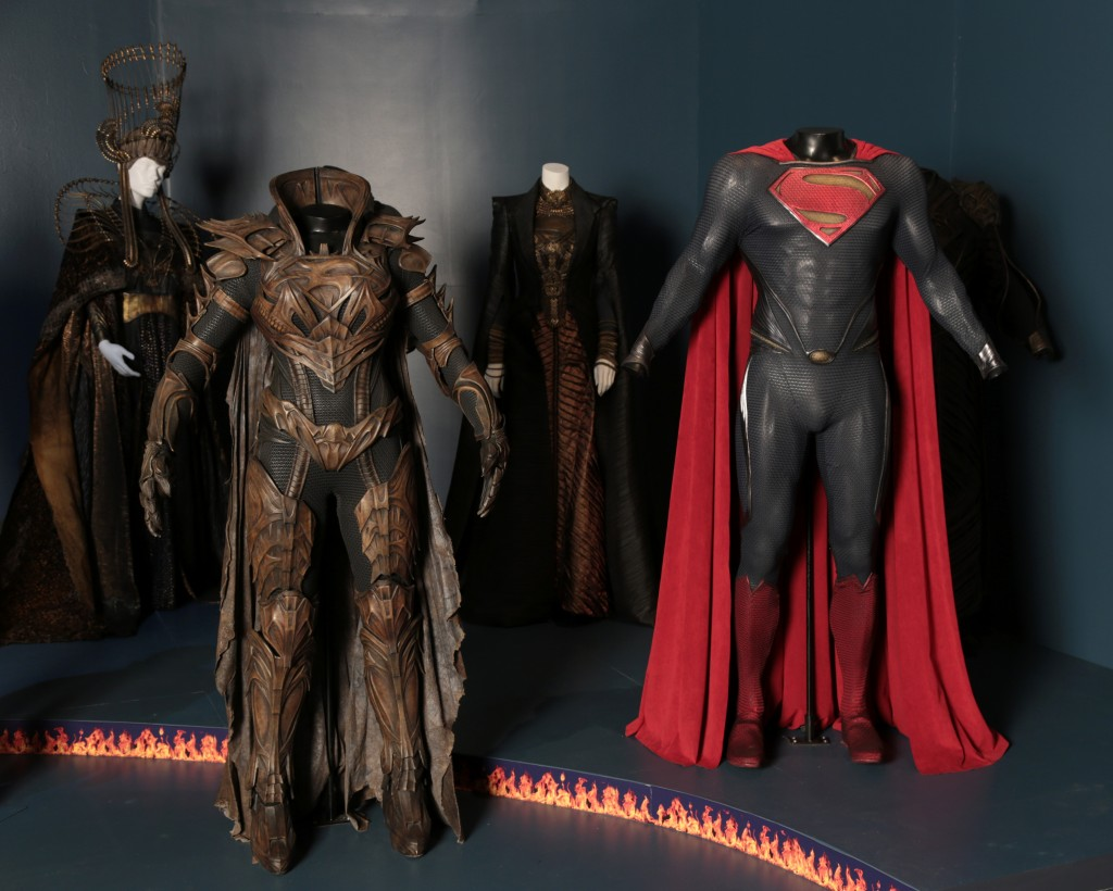 Innovative costumes from Man of Steel (photo by Alex J. Berliner / ABImages, courtesy of FIDM Museum)