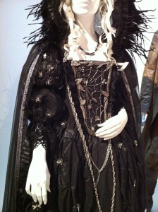 Interesting metalwork on a costume from Salem