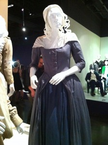 Intricate pleated detailing on a costume from Sleepy Hollow